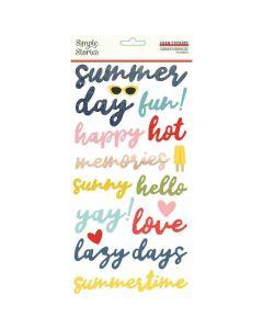 Summer Farmhouse Foam Stickers - Simple Stories