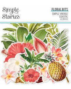 Simple Vintage Coastal Floral Bits & Pieces - Simple Stories