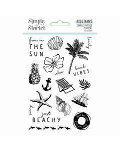 Simple Vintage Coastal Clear Stamps - Simple Stories