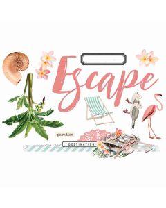 Escape Page Pieces - Simple Pages - Simple Vintage Coastal - Simple Stories