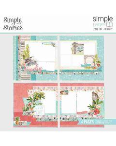 Beachy Page Kit - Simple Pages - Simple Vintage Coastal - Simple Stories
