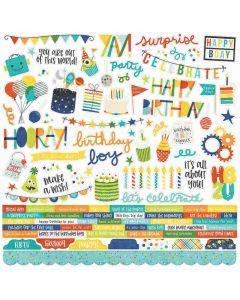 Birthday Blast Combo Stickers - Simple Stories