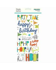 Birthday Blast Foam Stickers - Simple Stories