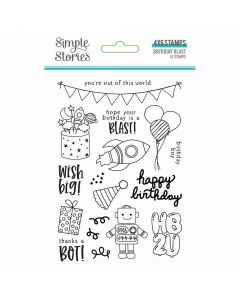 Birthday Blast Clear Stamps - Simple Stories