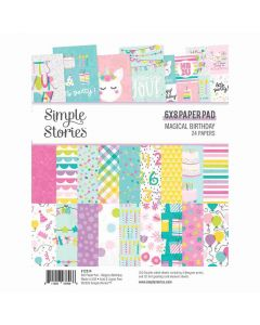 """Magical Birthday 6"""" x 8"""" Paper Pad - Simple Stories"""