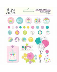 Magical Birthday Decorative Brads - Simple Stories