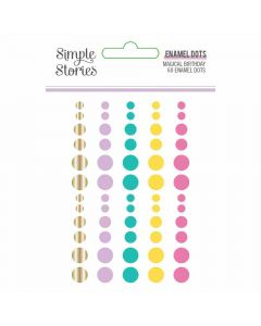 Magical Birthday Enamel Dots - Simple Stories