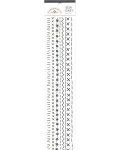 Lilac Paper Frills - Monochromatic - Doodlebug Beetle Black Mini Sew Easy Rub-on Stitches - Monochromatic - Doodlebug