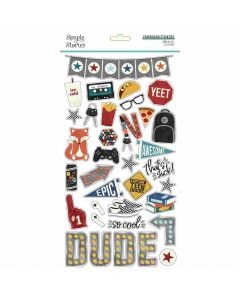 Bro & Co Chipboard Stickers - Simple Stories