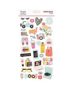 Kate & Ash Chipboard Stickers - Simple Stories