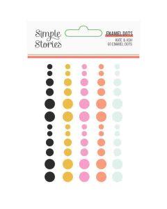 Kate & Ash Enamel Dots - Simple Stories
