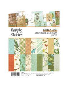 """Simple Vintage Great Escape 6"""" x 8"""" Paper Pad - Simple Stories"""