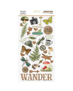 Simple Vintage Great Escape Chipboard Stickers - Simple Stories