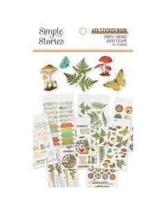 Simple Vintage Great Escape Sticker Book - Simple Stories