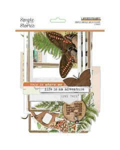 Simple Vintage Great Escape Layered Frames - Simple Stories