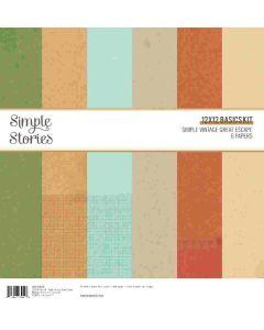 Simple Vintage Great Escape Simple Basics Kit - Simple Stories