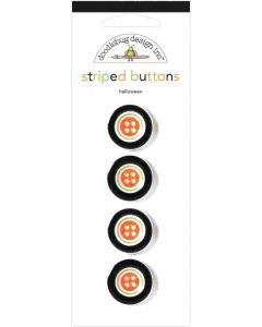 Halloween Striped Buttons - Candy Carnival - Doodlebug Design