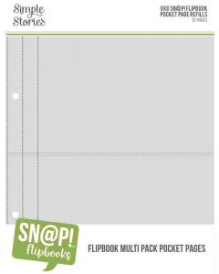 """Multi Pack Refills for 6"""" x 8"""" SN@P! Flipbook Pages - Simple Stories*"""
