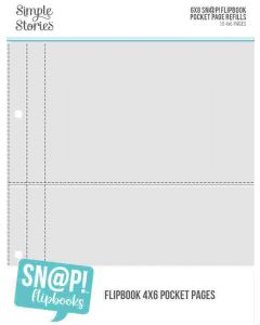 """4"""" x 6"""" Pack Refills for 6"""" x 8"""" SN@P! Flipbooks - Simple Stories*"""