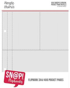"""3"""" x 4"""" & 4"""" x 6"""" Pack Refills for 6"""" x 8"""" SN@P! Flipbooks - Simple Stories*"""