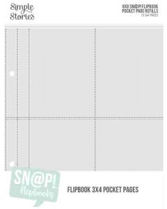 """3"""" x 4"""" Pack Refills for 6"""" x 8"""" SN@P! Flipbooks - Simple Stories*"""