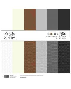 Basics Textured Cardstock Kit - Color Vibe - Simple Stories*