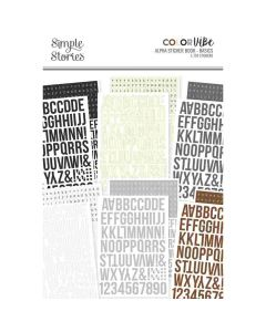 Basics Alpha Sticker Book - Color Vibe - Simple Stories*