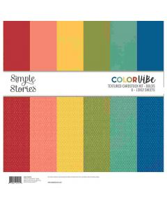 Bolds Textured Cardstock Kit - Color Vibe - Simple Stories*