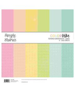 Lights Textured Cardstock Kit - Color Vibe - Simple Stories*