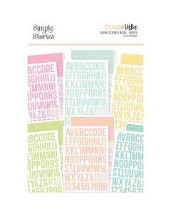 Lights Alpha Sticker Book - Color Vibe - Simple Stories*