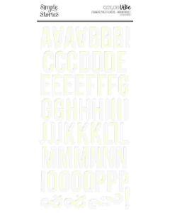 Warm White Foam Alphas - Color Vibe - Simple Stories*