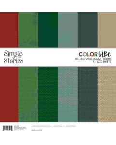 Winter Color Vibe Textured Cardstock Kit - Simple Stories