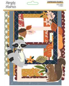 Cozy Days Chipboard Frames - Simple Stories
