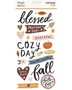 Cozy Days Foam Stickers - Simple Stories