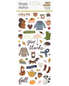 Cozy Days Puffy Stickers - Simple Stories