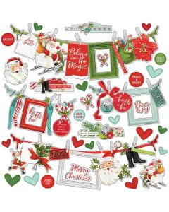 Simple Vintage North Pole Banner Stickers - Simple Stories
