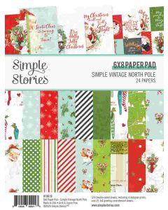 "Simple Vintage North Pole 6"" x 8"" Paper Pad - Simple Stories"