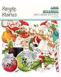 Simple Vintage North Pole Santa Bits & Pieces - Simple Stories
