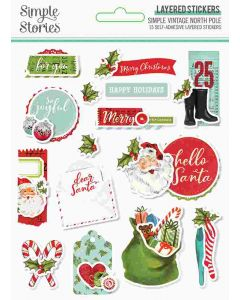 Simple Vintage North Pole Layered Stickers - Simple Stories