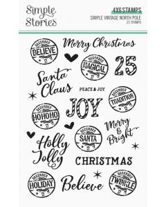 Simple Vintage North Pole Stamps - Simple Stories