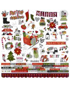 Jingle All the Way Cardstock Stickers - Simple Stories