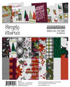 """Jingle All the Way 6"""" x 8"""" Paper Pad - Simple Stories"""