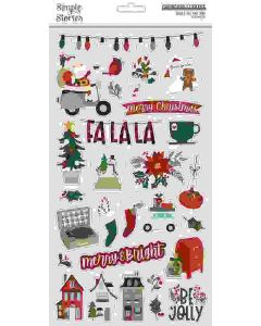 Jingle All the Way Chipboard Stickers - Simple Stories