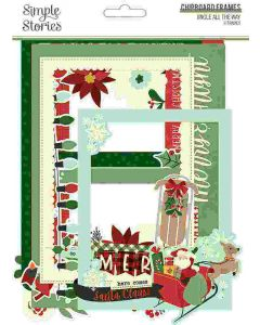 Jingle All the Way Chipboard Frames - Simple Stories