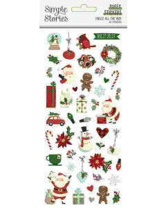 Jingle All the Way Puffy Stickers - Simple Stories