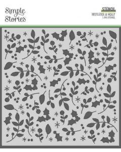 Mistletoe and Holly Stencil - Jingle All the Way - Simple Stories