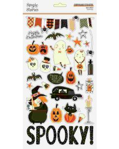 Boo Crew Chipboard Stickers - Simple Stories