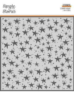 Starry Night Stencil - Boo Crew - Simple Stories