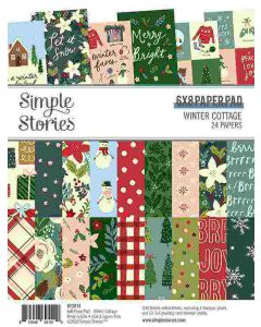 """Winter Cottage 6"""" x 8"""" Paper Pad - Simple Stories"""