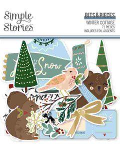 Winter Cottage Bits & Pieces - Simple Stories